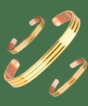 Bracelet Cuivre Plaque d'Or
